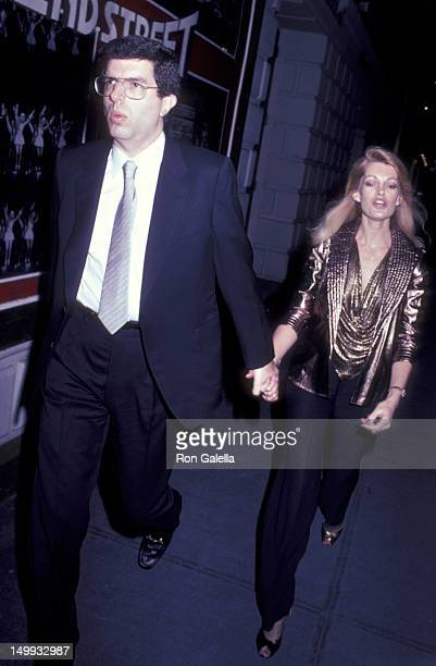 Marvin Hamlisch and Cyndy Garvey attend the opening party for Crimes of the Heart on November 4 1981 at Sardi's Restaurant in New York City