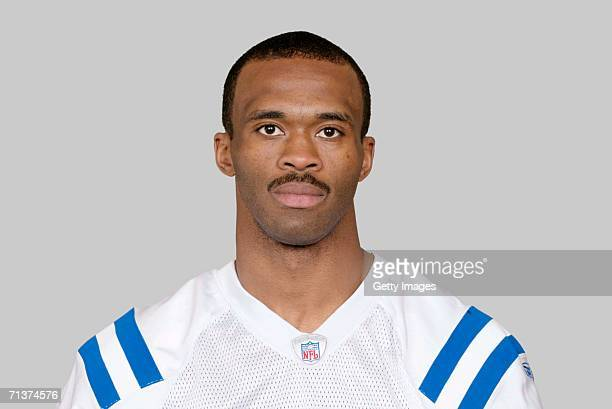 Marvin Harrison of the Indianapolis Colts poses for his 2006 NFL headshot at photo day in Indianapolis Indiana