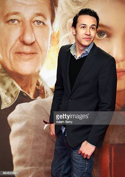 Marvin Herzsprung arrives for the German premiere of the film 'The Book Thief' at Zoo Palast on January 23 2014 in Berlin Germany
