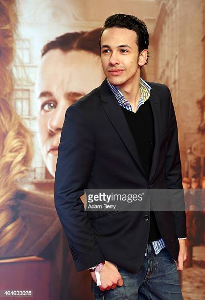 Marvin Herzsprung arrives for the German premiere of the film 'The Book Thief' at Zoo Palast on January 23, 2014 in Berlin, Germany.
