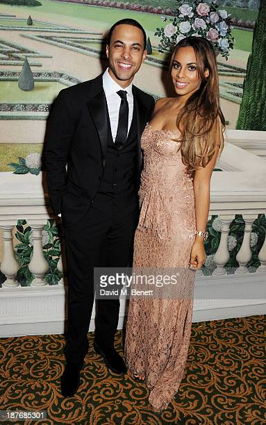Marvin Humes and Rochelle Humes attend the BBC Children in Need Gala hosted by Gary Barlow at The Grosvenor House Hotel on November 11 2013 in London...