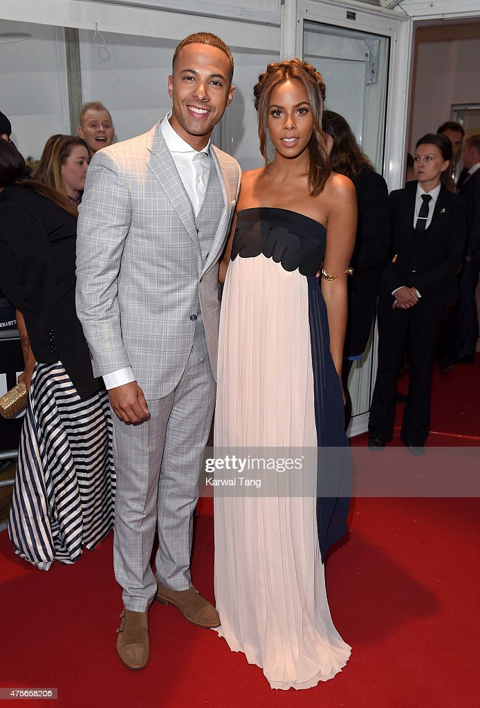 Marvin Humes and Rochelle Humes attend the Glamour Women of the Year Awards at Berkeley Square Gardens on June 2, 2015 in London, England.