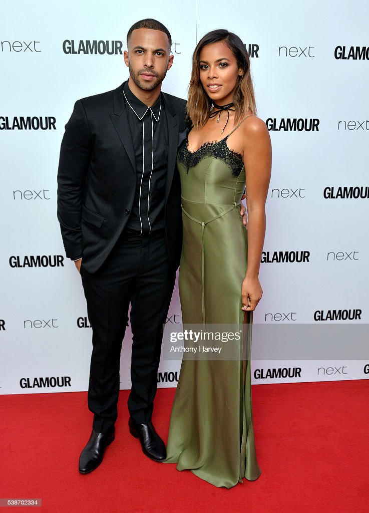 Marvin Humes and Rochelle Humes attend the Glamour Women Of The Year Awards at Berkeley Square Gardens on June 7, 2016 in London, England.