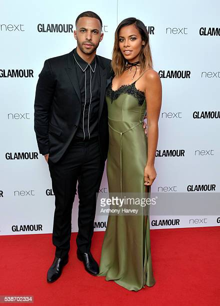 Marvin Humes and Rochelle Humes attend the Glamour Women Of The Year Awards at Berkeley Square Gardens on June 7 2016 in London England