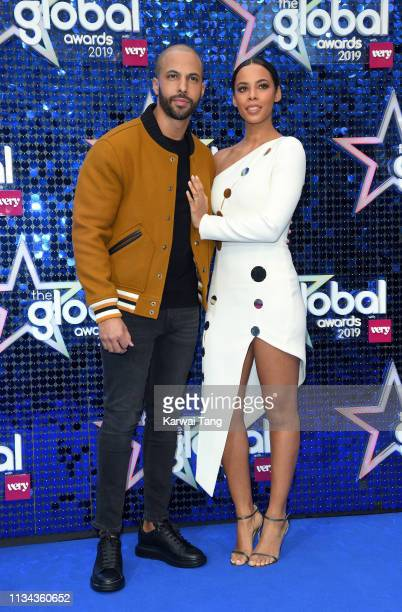 Marvin Humes and Rochelle Humes attend The Global Awards 2019 at Eventim Apollo Hammersmith on March 07 2019 in London England