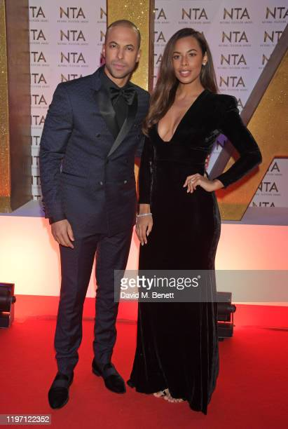 Marvin Humes and Rochelle Humes attend the National Television Awards 2020 at The O2 Arena on January 28 2020 in London England