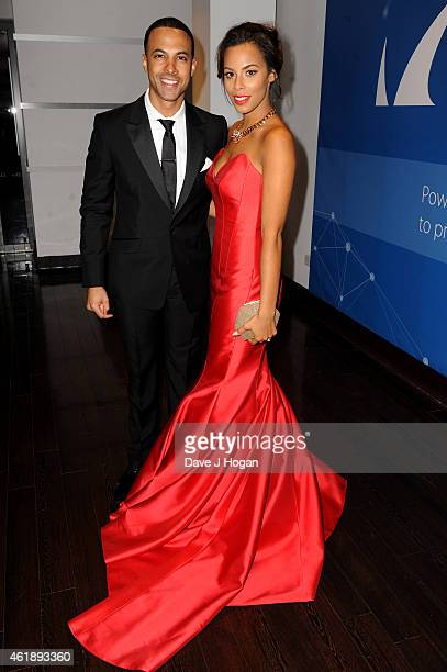 Marvin Humes and Rochelle Humes attend the National Television Awards at 02 Arena on January 21 2015 in London England