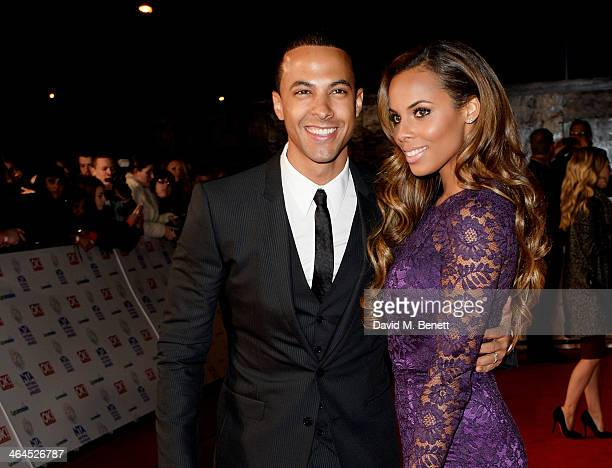 Marvin Humes and Rochelle Humes attend the National Television Awards at the 02 Arena on January 22 2014 in London England