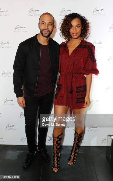 Marvin Humes and Rochelle Humes attend the Rochelle for New Look launch party at St Martins Lane Hotel on March 15 2018 in London England