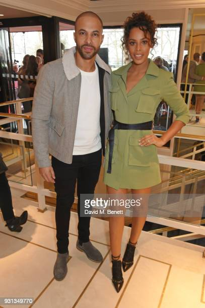 Marvin Humes and Rochelle Humes attend the TRIC Awards 2018 held at The Grosvenor House Hotel on March 13 2018 in London England