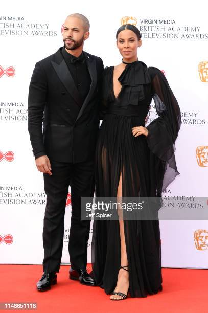Marvin Humes and Rochelle Humes attend the Virgin Media British Academy Television Awards 2019 at The Royal Festival Hall on May 12 2019 in London...