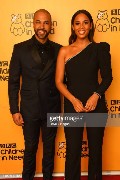 Marvin Humes and Rochelle Humes backstage at BBC Children in Need's 2019 Appeal night at Elstree Studios on November 15 2019 in Borehamwood England