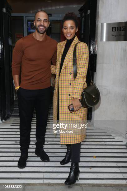 Marvin Humes and Rochelle Humes seen at BBC Radio 2 as part of Children In Need day on November 16 2018 in London England