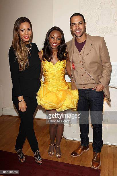 Marvin Humes and Rochelle Humes visit the West End Production of 'The Bodyguard' and meet Beverley Knight backstage after her performance at the...