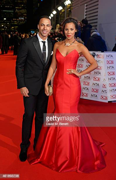 Marvin Humes and Rochelle Wiseman attend the National Television Awards at 02 Arena on January 21 2015 in London England