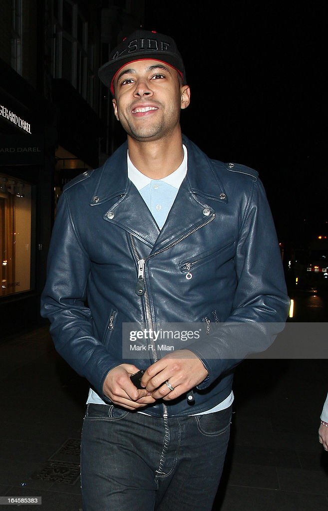 Marvin Humes at Amika night club on March 24, 2013 in London, England.
