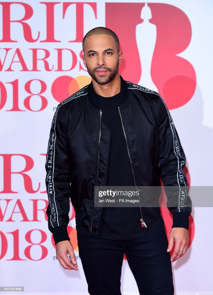 Marvin Humes attending the Brit Awards at the O2 Arena, London.