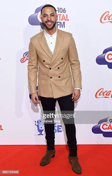 Marvin Humes attends day one of the Capital FM Jingle Bell Ball at The O2 Arena on December 5 2015 in London England