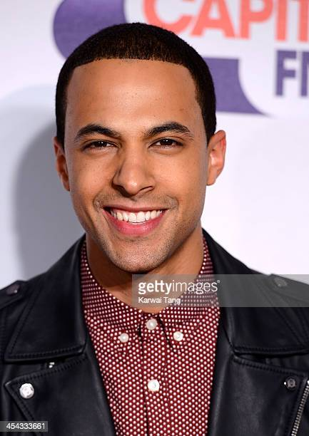 Marvin Humes attends on day 2 of the Capital FM Jingle Bell Ball at the 02 Arena on December 8 2013 in London England