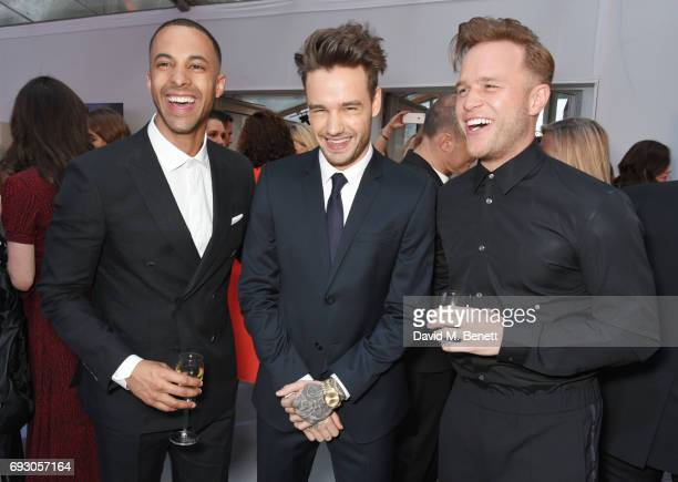 Marvin Humes Liam Payne and Olly Murs attend the Glamour Women of The Year Awards 2017 in Berkeley Square Gardens on June 6 2017 in London England