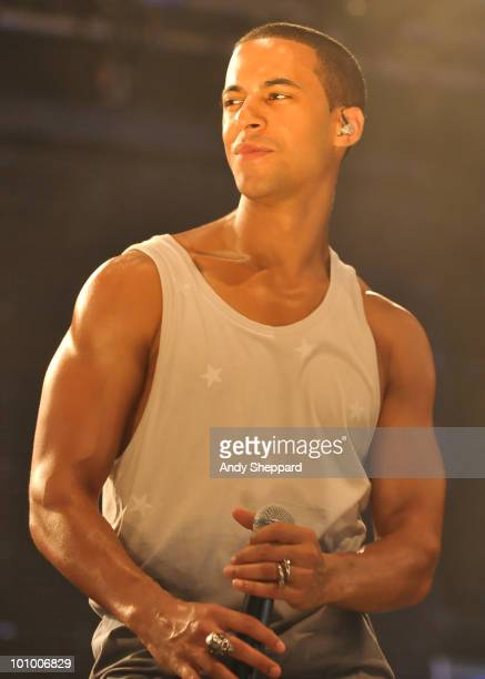 Marvin Humes of JLS performs on stage during day two of BBC Radio 1's Big Weekend on May 23 2010 in Bangor Wales