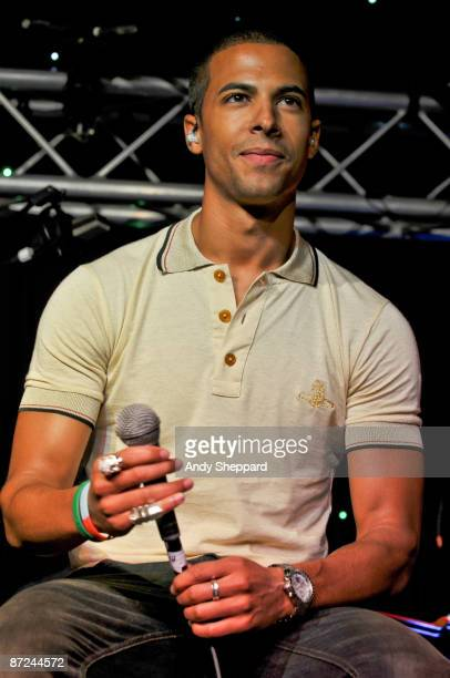 Marvin Humes of JLS performs on stage on Day 1 of BBC Radio 1's Big Weekend at Lydiard Park on May 9 2009 in Swindon England