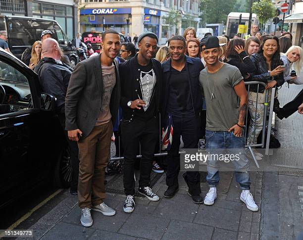 Marvin Humes Oritse Williams JB Gill and Aston Merrygold of JLS pictured at Radio 1 on September 6 2012 in London England