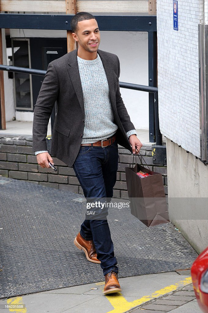 Marvin Humes pictured leaving the ITV studios on March 21, 2013 in London, England.