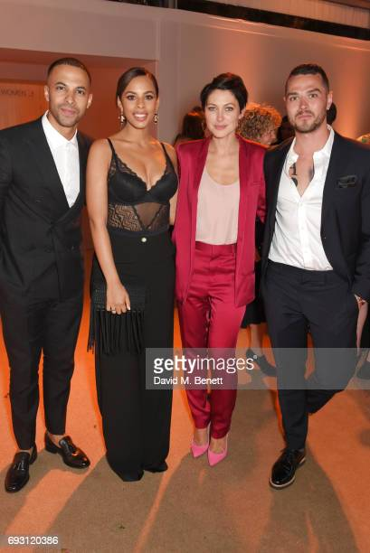 Marvin Humes Rochelle Humes Emma Willis and Matt Willis attend the Glamour Women of The Year Awards 2017 in Berkeley Square Gardens on June 6 2017 in...