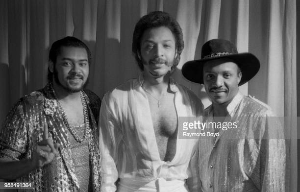 Marvin Isley Chris Jasper and Ernie Isley from Isley Jasper Isley poses for photos at the Hyatt Regency Hotel in Chicago Illinois in January 1986