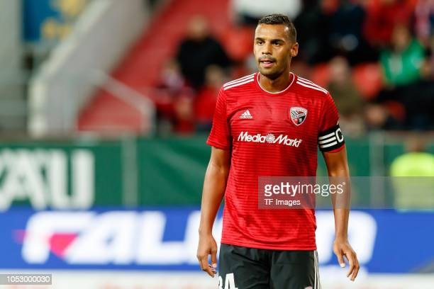 Marvin Job Matip of FC Ingolstadt looks on during the Second Bundesliga match between FC Ingolstadt 04 and 1 FC Union Berlin at Audi Sportpark on...