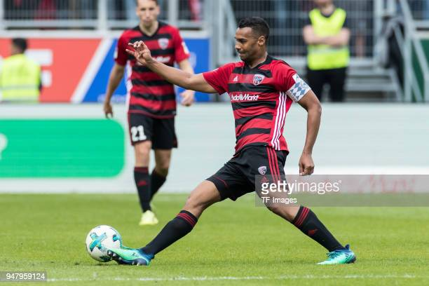 Marvin Job Matip of Ingolstadt controls the ball during the Second Bundesliga match between FC Ingolstadt 04 and 1 FC Nuernberg at Audi Sportpark on...