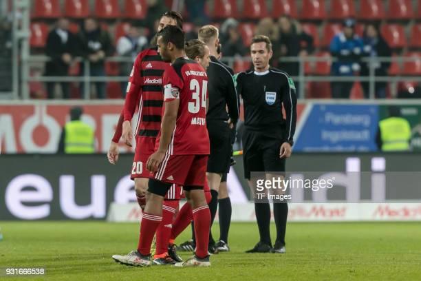 Marvin Job Matip of Ingolstadt looks dejected during the Second Bundesliga match between FC Ingolstadt 04 and VfL Bochum 1848 at Audi Sportpark on...