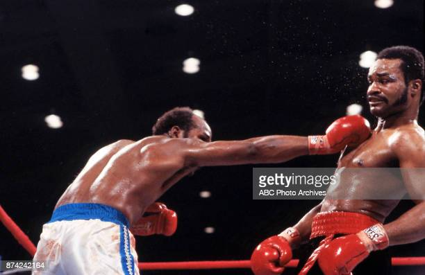 Marvin Johnson Eddie Mustafa Muhammad boxing at Stokley Athletics Center March 31 1980