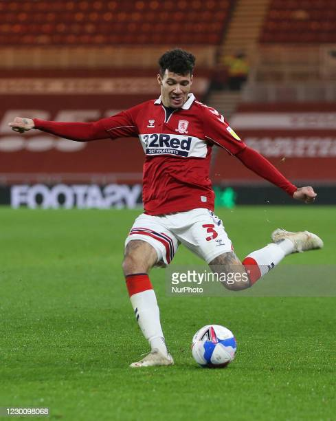 Marvin Johnson of Middlesbrough during the Sky Bet Championship match between Middlesbrough and Millwall at the Riverside Stadium, Middlesbrough on...
