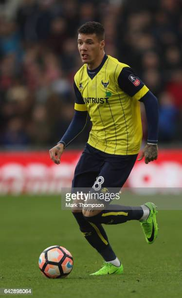 Marvin Johnson of Oxford United in action during the Emirates FA Cup Fifth Round match between Middlesbrough and Oxford United at the Riverside...