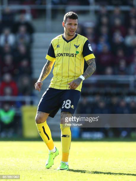 Marvin Johnson of Oxford United in action during the Sky Bet League One match between Northampton Town and Oxford United at Sixfields on March 25...