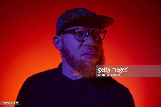 Marvin Jones from CW's 'Black Lightning' poses for a portrait at the Getty Images Portrait Studio powered by Pizza Hut at San Diego 2018 Comic Con at...