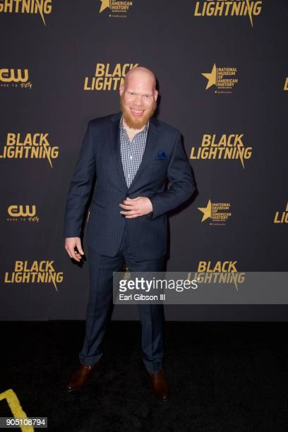 Marvin Krondon Jones III attends the Black Lightning' World Premiere at National Museum Of African American History Culture on January 13 2018 in...