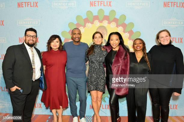 Marvin Lemus Linda Yvette Chávez Charles D King Teri Weinberg Monica Macer Aaliyah Williams and Kim Roth attend as Netflix Celebrates The Premiere Of...