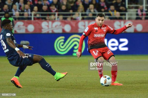 Marvin Martin of Dijon during the Ligue 1 match between Dijon DCO and Paris Saint Germain at Stade Gaston Gerard on February 4 2017 in Dijon France