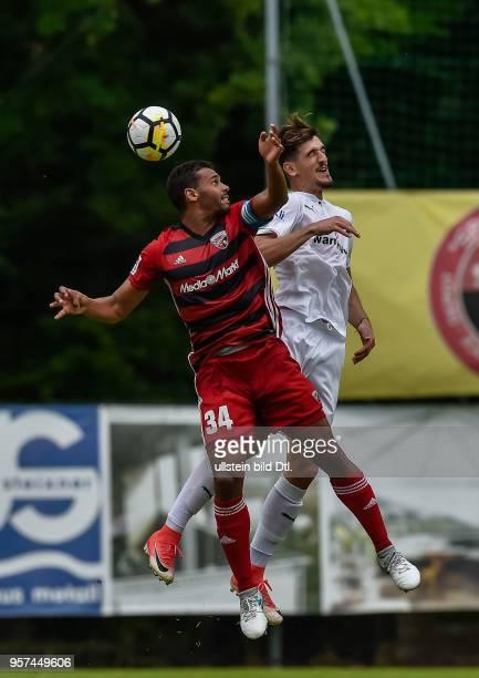 Marvin Matip im Kopfballduell mit Kubilay Kanatsizkus waehrend dem Fussball Testspiel FC Ingolstadt 04 gegen Bursaspor fuer die Saison 2017/2018 am...
