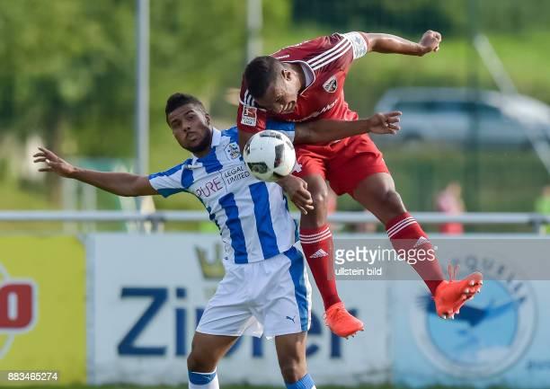 Marvin Matip im Zweikampf mit Ex Ingolstaedter Elias Kachunga waehrend dem Fussball Testspiel FC Ingolstadt 04 gegen Huddersfield Town FC fuer die...