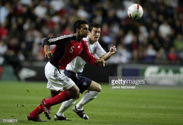 Marvin Matip of Germany battles with David Nugent of England during the European U21 Championship Qualifier between England U21's and Germany U21's...