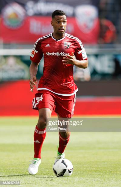 Marvin Matip of Ingolstadt 04 in action during the Bundesliga match between FC Ingolstadt 04 and FC Schalke 04 at Audi Sportpark on May 20 2017 in...