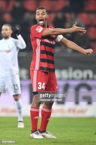 Marvin Matip of Ingolstadt gestures during the Second Bundesliga match between FC Ingolstadt 04 and VfL Bochum 1848 at Audi Sportpark on March 5 2018...