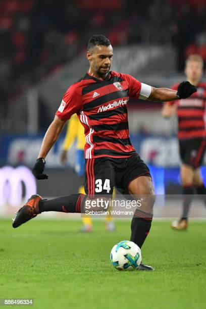 Marvin Matip of Ingolstadt plays the ball during the Second Bundesliga match between FC Ingolstadt 04 and Eintracht Braunschweig at Audi Sportpark on...