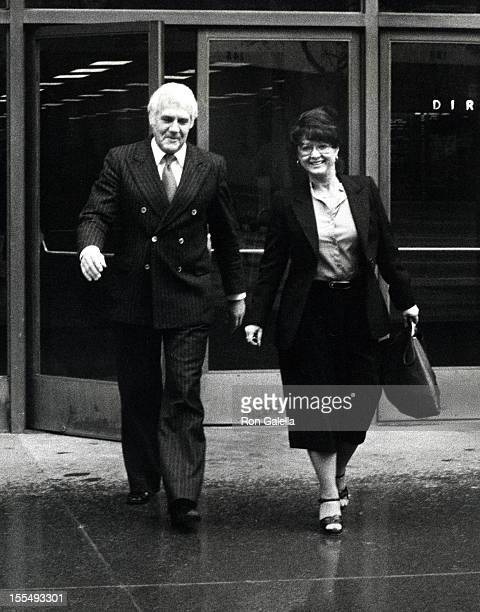 Marvin Mitchelson and Michelle Triola during Marvin Mitchelson File Photos January 30 1979 at Los Angeles Courtroom in Los Angeles California United...
