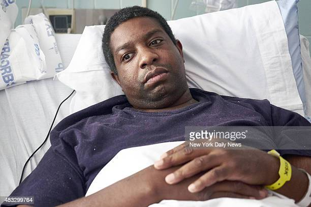 Marvin Montgomery a Legionnaires disease patient at Harlem Hospital on Thursday August 6 2015 in New Yrok NY Montgomery worked near Lincoln Hospital...