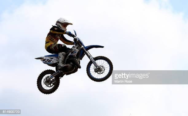 Marvin Mueller of Germany in action during the International German Motocross Championships on July 15 2017 in Tensfeld Germany